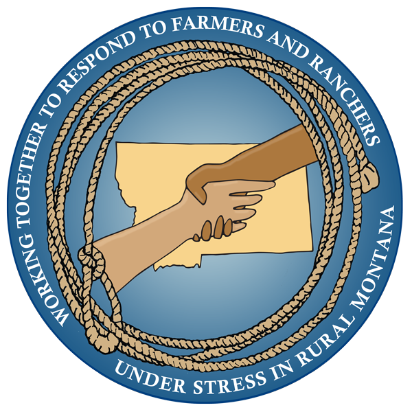 farm stress illustration msu blue colors