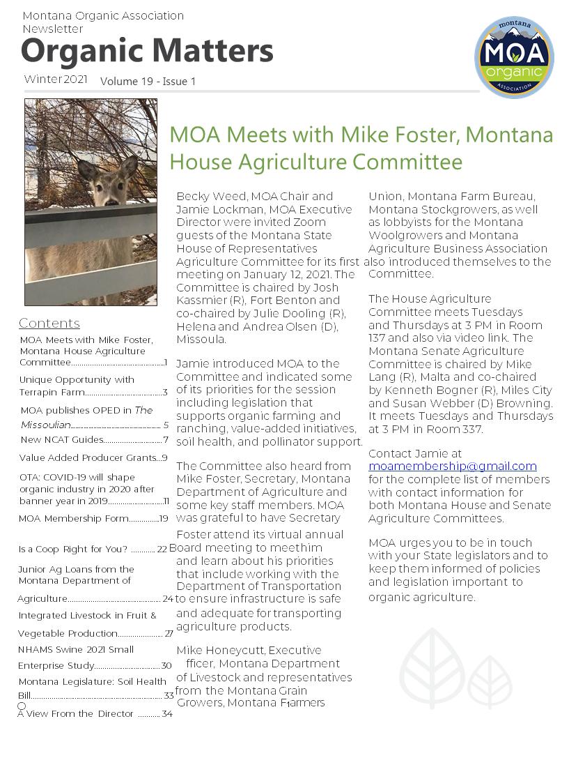 MOA Organic Matters - Winter Feb 2 2021